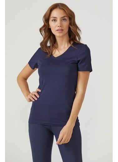 Sementa V Yaka Kadın Basic T.Shirt  Fuşya